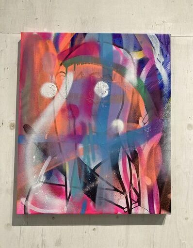 Hideki Iinuma, 'neon cross 2', 2020