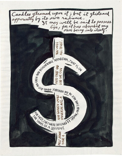 Raymond Pettibon, 'No title (Candles gleamed upon...)', 1990