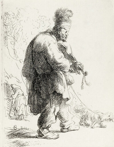 Rembrandt van Rijn, 'The Blind Fiddler', 1631