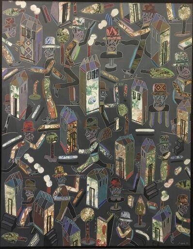 Antonio Seguí, 'Ocaso de Multitud', 1990