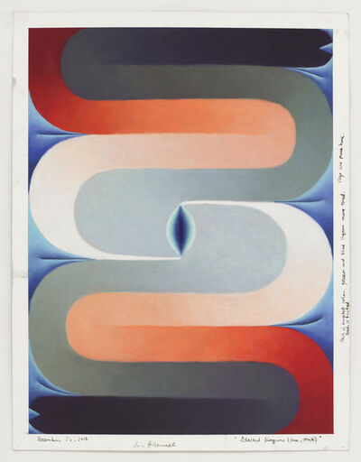 Loie Hollowell, 'Stacked Lingams (blue, pink)', December 26-2017