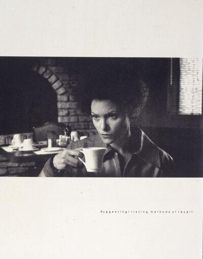Lorna Simpson, 'Recall (From: Exit 8: Exit Art Portfolio, 6 of 8 in the Portfolio)', 1998