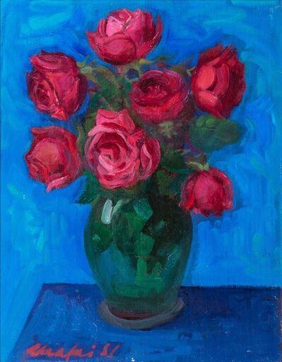 Mario Mafai, 'Rose in the canvas', 1957