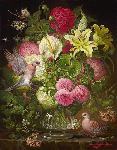 Yana Movchan, 'Still Life with Turtle Doves', 2015