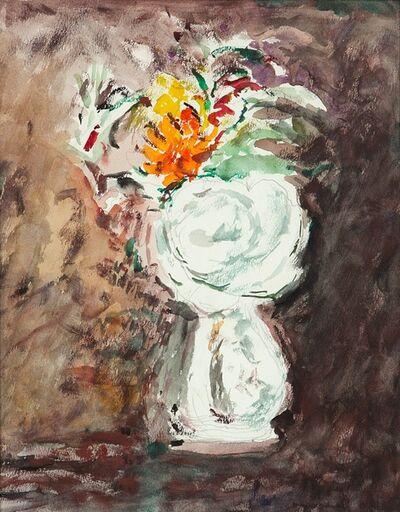 Arturo Tosi, 'Fiori nel vaso bianco', second half 40s