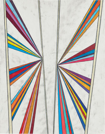 Mark Grotjahn, 'Untitled (Butterfly Five Color Ray)', 2003