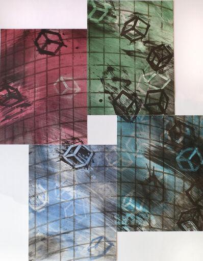Mel Bochner, 'Four Color Quartets, Third Quartet', 1990