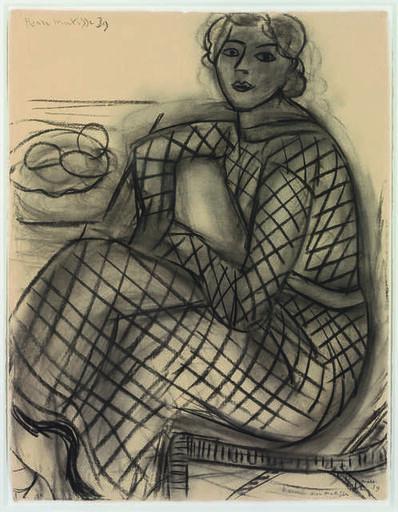Henri Matisse, 'Jeune femme assise en robe de résille(Seated Young Woman in Net Dress)', 1939