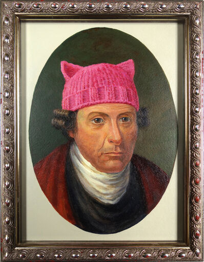 Darlene Campbell, 'Patrick Henry Dons a Pussyhat', 2017