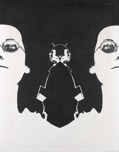 Aldo Tagliaferro, 'Natura morta con donna + notte + ragazzo. Variante 2°', 1970