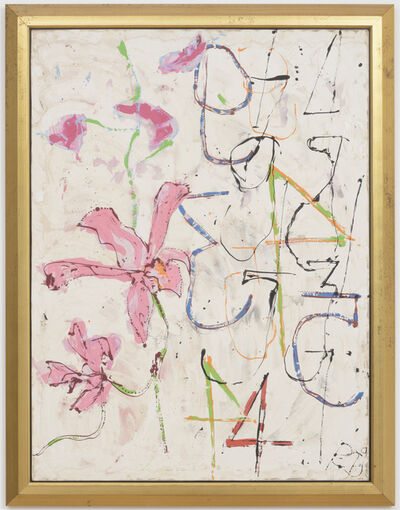 Craig Kauffman, 'Thai Orchids with Numbers', 1989