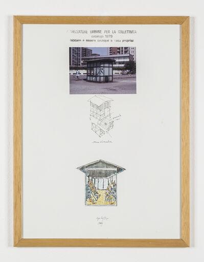"""Ugo La Pietra, 'Serie """"Attrezzature urbane per la collettività"""" - Serra domestica', 1979"""