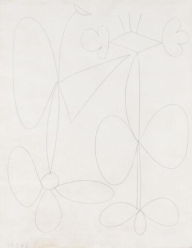 Pablo Picasso, 'Fleurs', 28 September 1948