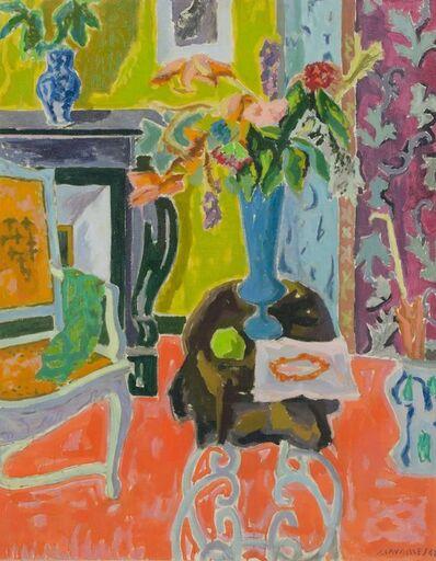 Jules CAVAILLES, 'Interieur au Vase Blue', 1948