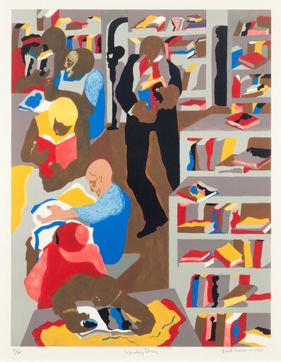 Jacob Lawrence, 'Schomburg Library', 1987