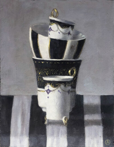 Olga Antonova, 'Stacked Cups with Stripes', 2020
