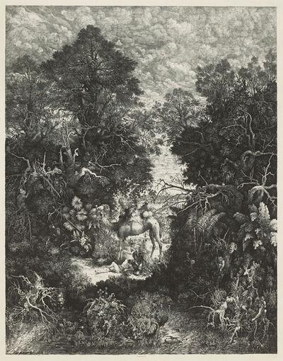 Rodolphe Bresdin, 'The Good Samaritan', 1861