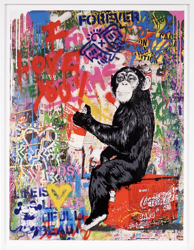 Mr. Brainwash, 'I Love You (Unique Painting)', 2020