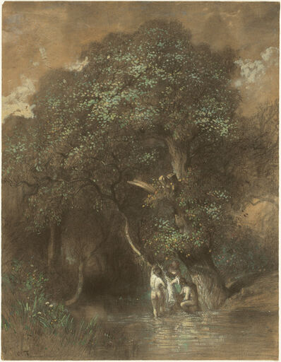 Constant Troyon, 'Bathers by a Giant Oak', ca. 1842/1844