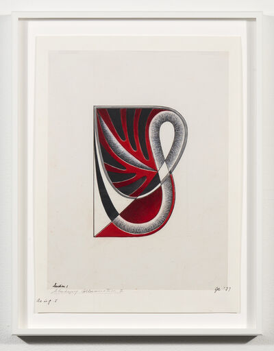 Judy Chicago, 'Study for Letter S #3', 1977