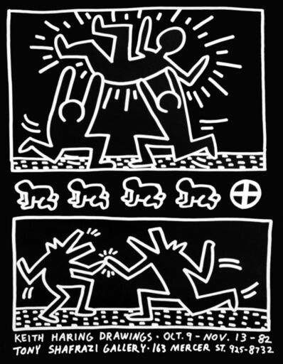 Keith Haring, 'Keith Haring Tony Shafrazi exhibition poster 1982', 1982