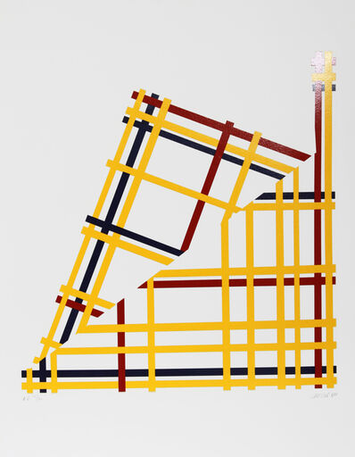 Jim Jacobs, 'Folded NYC (Mondrian)', 1980