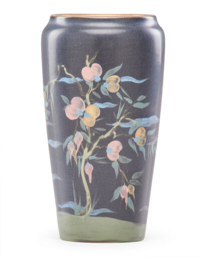 Rookwood Pottery, 'Vellum vase with stylized prunus trees', 1920