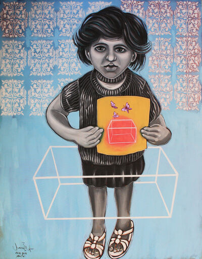 Mohamed Abusal, 'I can't live in a cage', 2015