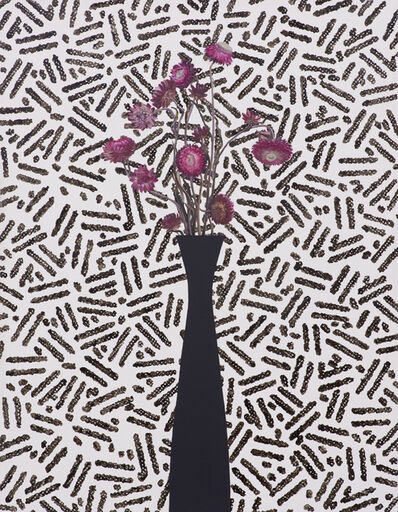 Jen Mazza, 'Pink Strawflowers/Security Pattern', 2015