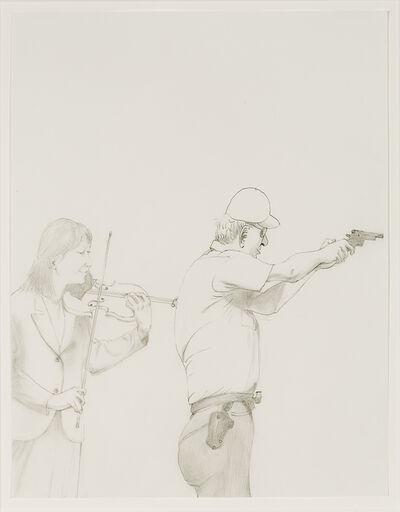 Honoré Sharrer, '(Gun and Violin)', no date