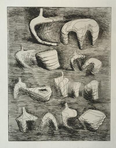 Henry Moore, 'Deconstructed Figures', ca. 1970