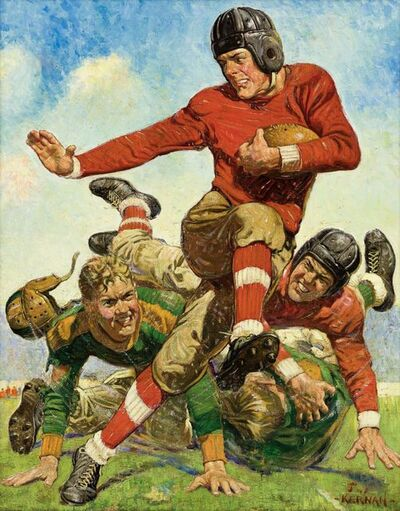 Joseph Francis Kernan, 'College Football, Saturday Evening Post Cover, 1932', 1932