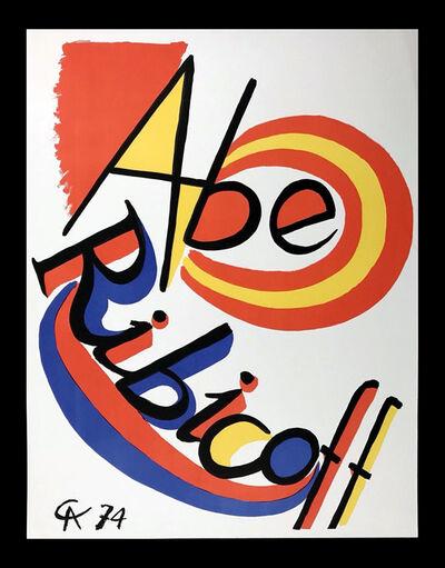 Alexander Calder, 'Calder Abe Ribicoff lithograph 1974', 1974