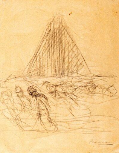 Umberto Boccioni, 'Study for La città che sale', 1910