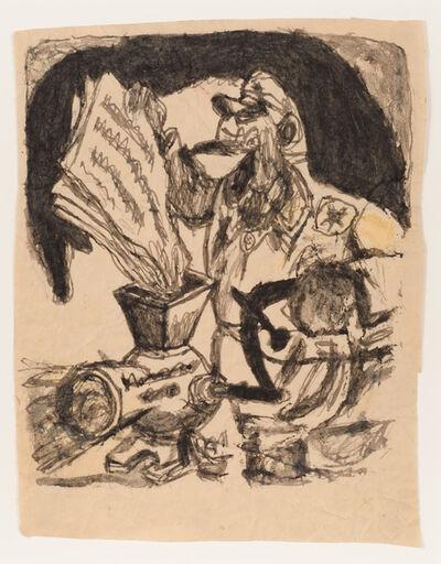 James Castle, 'Untitled (Political cartoon)', n.d.