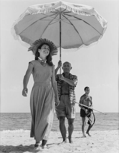 Robert Capa, 'Pablo Picasso and Francoise Gilot, Golfe-Juan, France.', 2000