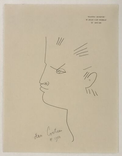 Jean Cocteau, 'Profile of a Boy', 1958