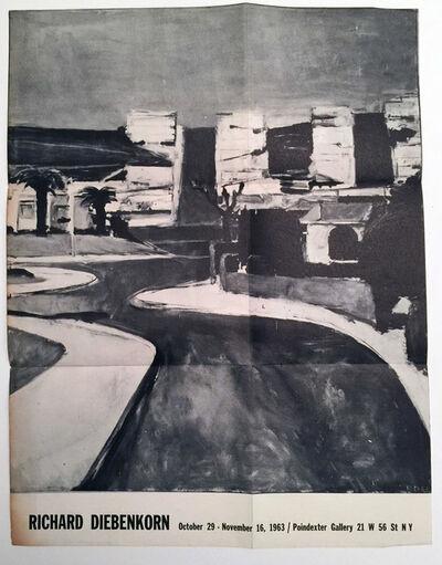 Richard Diebenkorn, 'Richard Diebenkorn October 29 - November 16, 1963, Poindexter Gallery, HOLIDAY SALE $100 OFF THRU MAKE OFFER', 1963