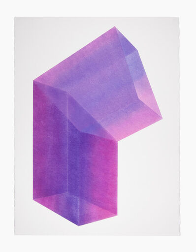 Brant Ritter, 'Accidental Happiness (Vertical) Purple + Magenta', 2017