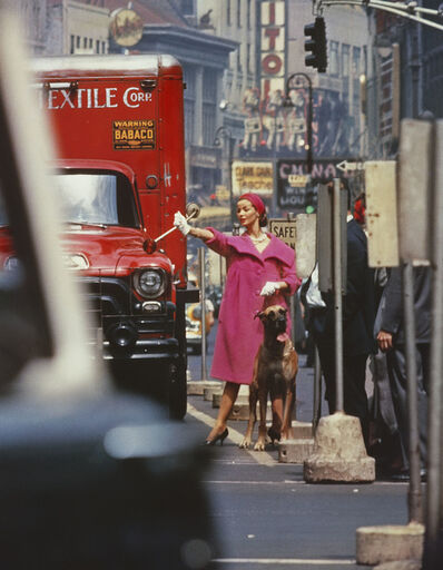 William Klein, 'Dolores wants a taxi, New York (Vogue)', 1958