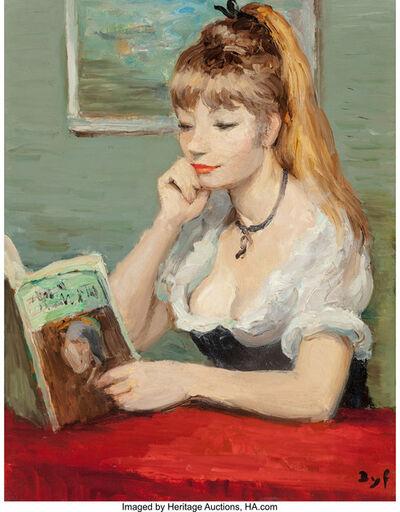 Marcel Dyf, 'Claudine à la lecture', 1973