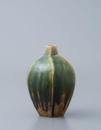 Ken Matsuzaki, 'Vase, oribe glaze'