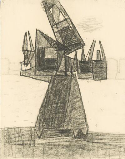 Prunella Clough, 'Thameside Cranes', ca. 1950