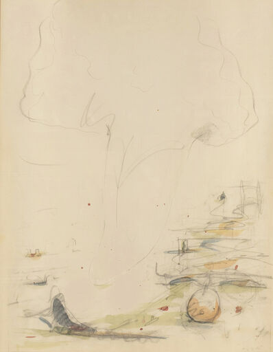 Claes Oldenburg, 'Study for Tongue Cloud Over London with Thames Ball (original drawing)', 1975