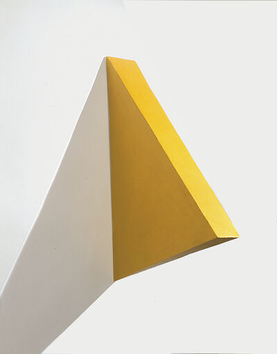 Eduardo Costa, 'Volumetric Painting of a Yellow Triangle', 2000