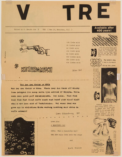 George Brecht, 'V TRE', 1963