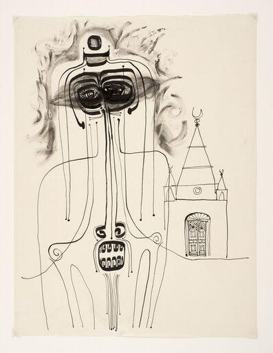 Ibrahim El-Salahi, 'Mosque and Figure', 1960-1962