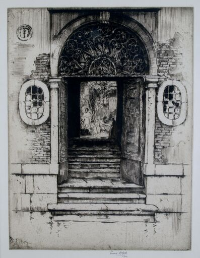 Ernest David Roth, 'Shadowed Doorway, Venice', 1914