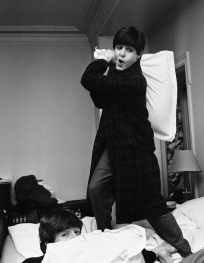 Harry Benson, 'Paul hits John, Pillow Fight, George V Hotel, Paris', 1964