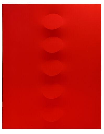 Turi Simeti, '5 ovali rossi', 2017
